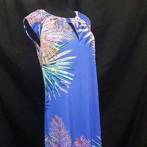 Maggy L cap sleeve multi-color mini dress Size 6